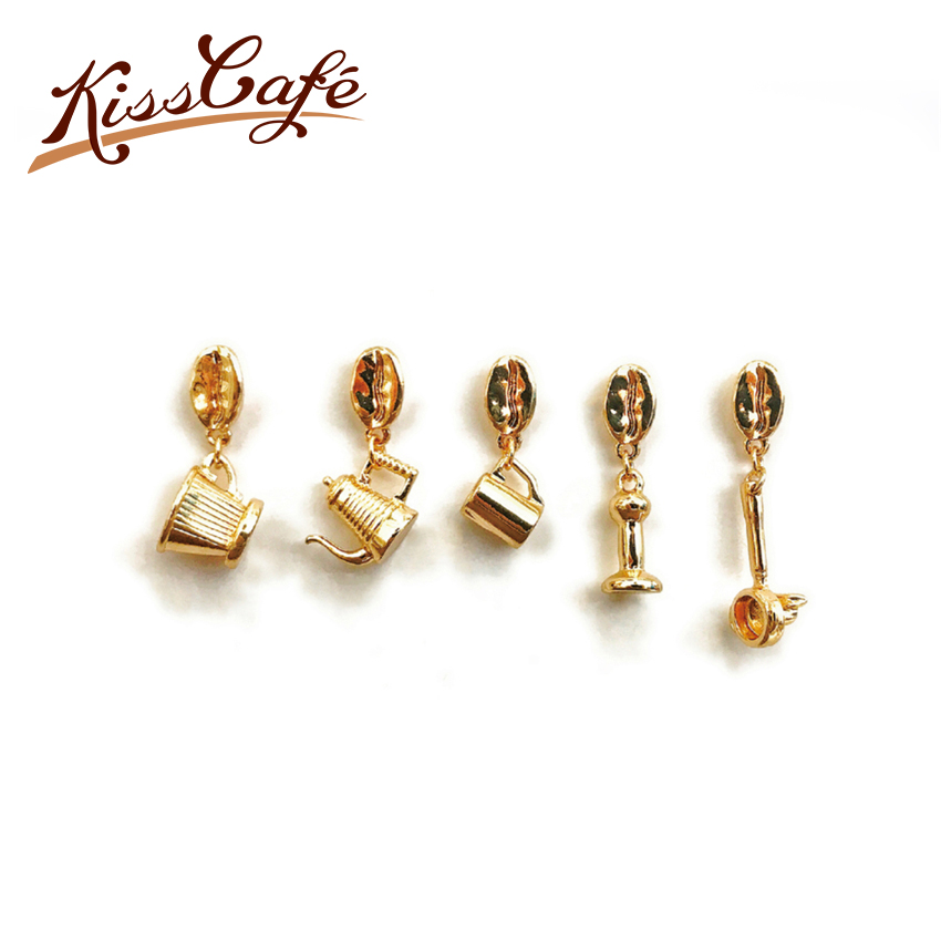 Couple Espresso Accessories Coffee Maker Brooch Mini Coffee Tamper Beautiful Coffee Badge Cafe Gift for Coffee