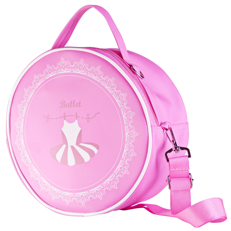 Girls Pink Dance Tote Handbag Kids Ballet Bag Chilren Dance Bags Toddlers Embroidery Waterproof Dance Shoulder Bag