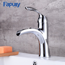 Fapully Waterfall Bathroom Basin faucet Brass Chrome Contemporary Sink Mixer Tap