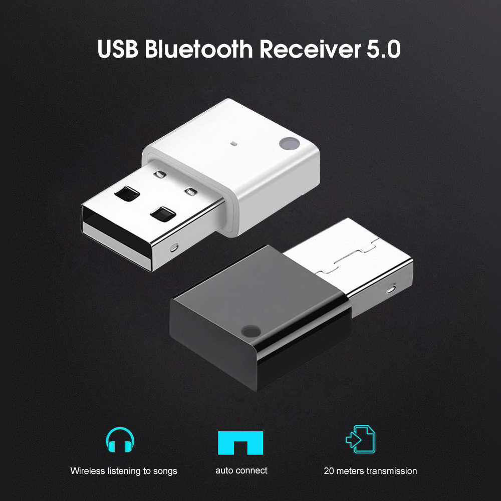 USB Adapter Mini Draadloze Bluetooth 5.0 Ontvanger Voor Auto Radio Subwoofer Versterker Multimedia Bluetooth 5.0 Audio Adapter
