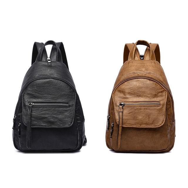 AMELIE GALANTI Luxury Leather Women Backpack Travel Mini Backpack Mochilas School Bags Women Shoulder Bag Fashion Lady Backpack Fashion Backpacks