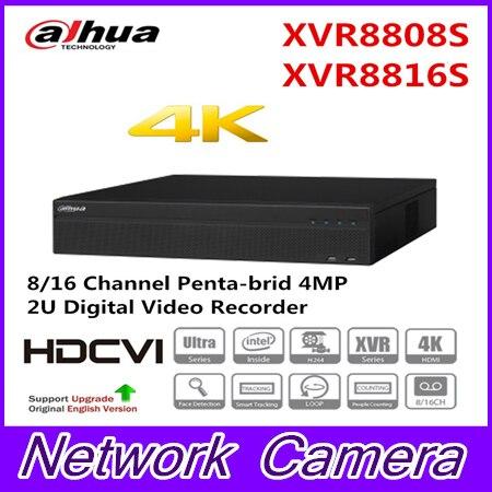 цена на Brand XVR8808S XVR8816S 4K HDCVI recorders H.264+ 8/16 Channel Penta-brid 4MP 2U Digital Video Recorder 8 SATA Ports Original