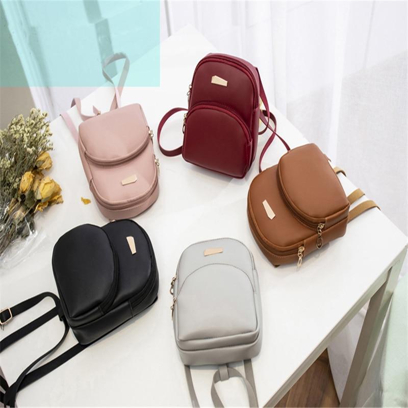 2019 Newly Fashion Trend Shell Shape Women Lady Girls PU Leather Zipper Closure Backpack Woman Bag High Quality Backpacks