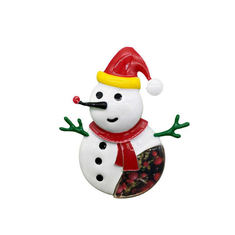 סיכת חג המולד עבור נשים גברים ילדים יפה אמייל שלג סיכות וסיכות מתכת סגסוגת בגדי צווארון פין המפלגה תכשיטי 2019