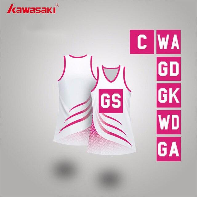 Kawasaki Brand Custom Women Practice Netball Dress with bibs lycra Breathable Training Net Ball Tennis Dresses High quality