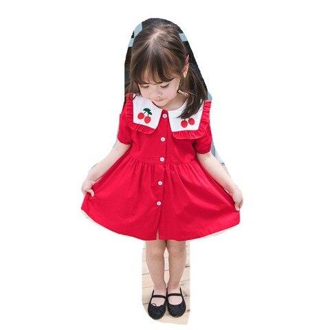 2019 criancas roupas meninas coreanas vestido navy vento lapela vestido