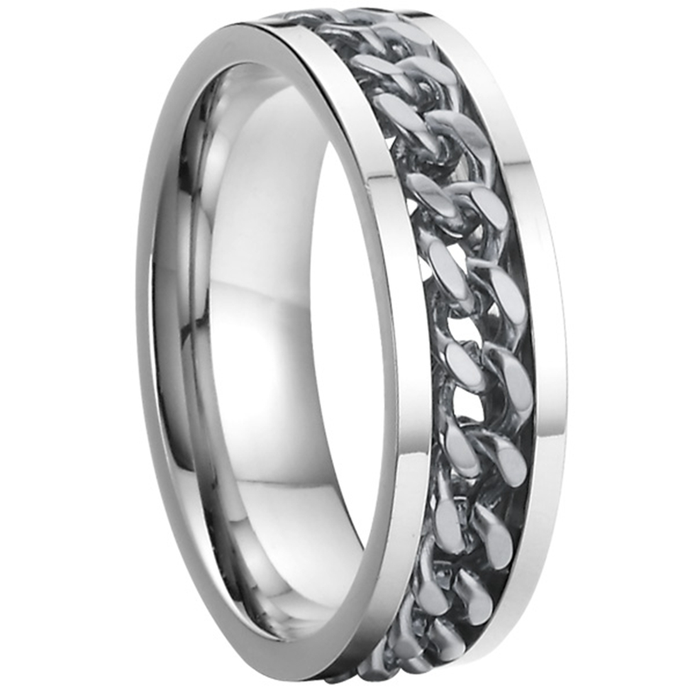 China Supplier cool wife and husband gift wedding band gear rings