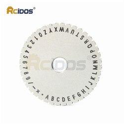 RCIDOS znak płyta koła dla YL-360 instrukcja tabliczka znamionowa maszyna do znakowania  1/2/2/3/4/5/6mm stałe/kropkowany styl dostępne  1 sztuk cena