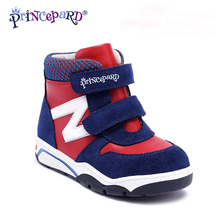 цена на Princepard 2018 winter Orthopedic Leather Shoes with Arch and Ankle Support  Toddler Little Kid baby orthopedic shoes senakers