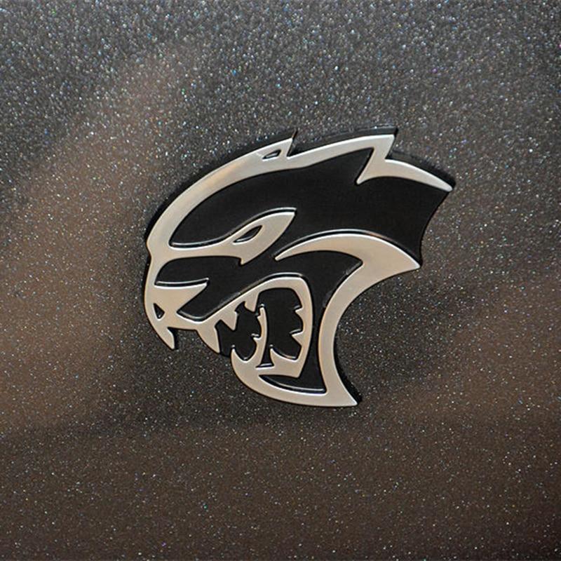 2 Pcs Hellcat SRT Emblem Car Sticker Front Fender Badge Door Metal Sticker For Challenger Charger SRT GT Car Styling
