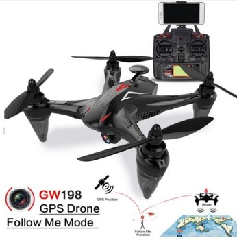 Global Drone GW198 Professional GPS Brushless Quadrocopter with Camera HD Altitude Hold Helicopter Follow Me RC Drone VS Bugs 2 Квадрокоптер