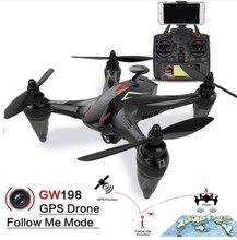 Global GW198 Profissional GPS Zangão Brushless Quadrocopter com Câmera HD Helicóptero de Altitude Hold Me Seguir RC Drone VS Bugs 2