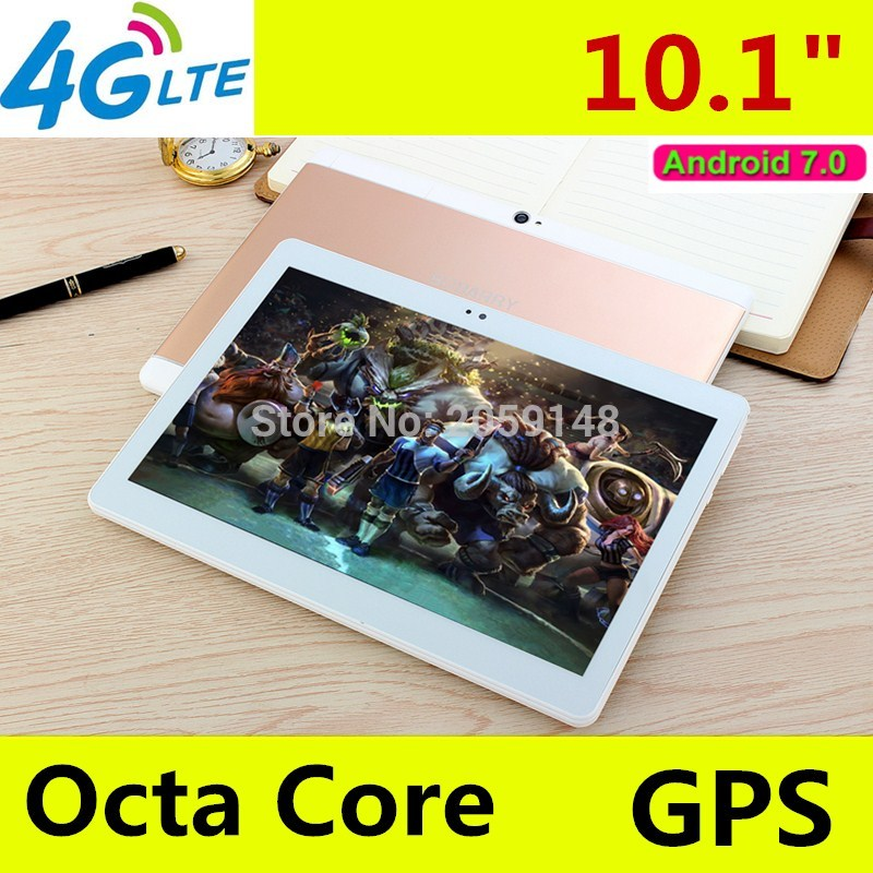 2018 Nouveau Android 7.0 octa base 10.1 pouce 3g 4g LTE tablet pc 1920*1200 IPS HD 8.0MP 4 gb RAM 64 gb ROM Bluetooth GPS Mini tablet