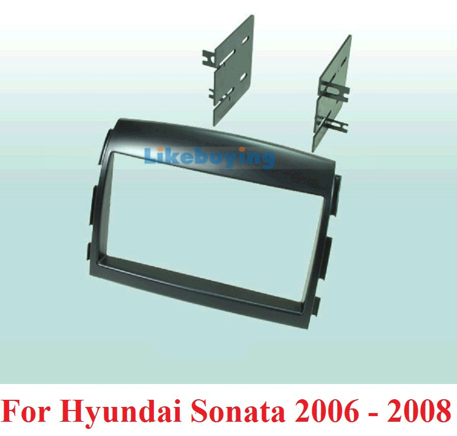 2 Din frame Kit / carro fascia / Car Fascia Panel / Audio Panel Frame / Dash Kit For Hyundai Sonata 2006 2007 2008 Free Shipping free shipping car refitting dvd frame dash cd panel for buick excelle 2008 china facia install plate ca4034