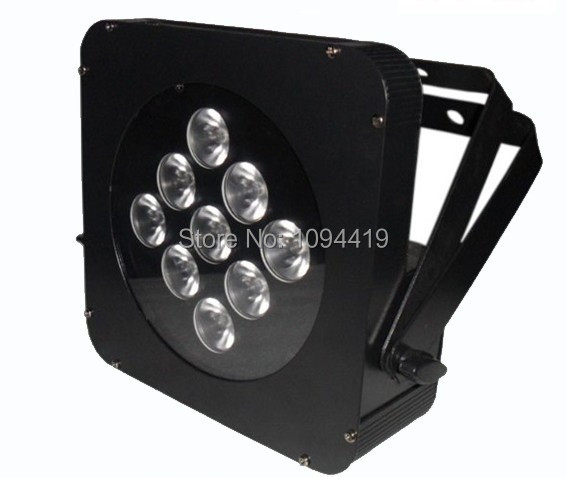 Free shipping (10pcs/lot ) 9x3w 3in1 rgb led par 64 eurolite led par 64 rgb 36x3w short silver