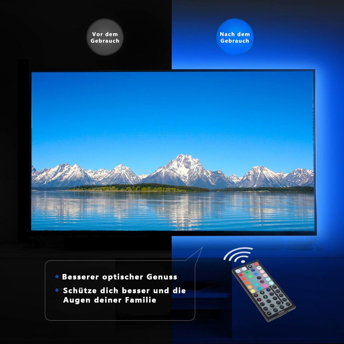 LED Strip Waterproof 2M 120LED DC 5V SMD 5050 RGB RGBW RGBWW Fita LED Light Strips Flexible Neon Tape