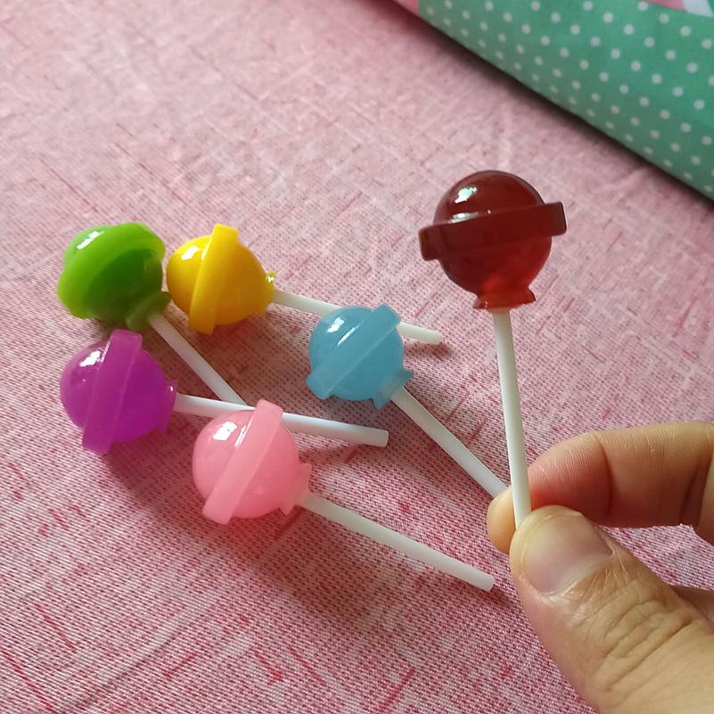 64b06b5244fb2 Tanduzi Wholesale 100PCS Miniature Lollipops Mini Resin Lolipop Candy  Kawaii Cabochons Dollhouse Miniatures Resin Crafts