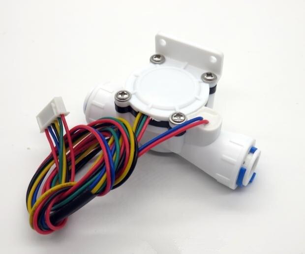 Tds & ntc sensor de fluxo de água sensor de condutividade de temperatura salão medidor de fluxo 6 fios