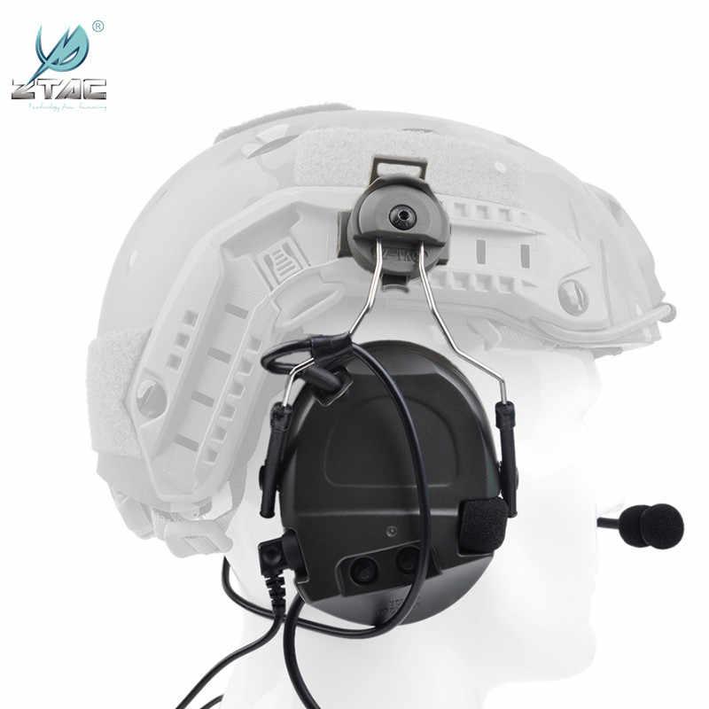 Z Tac אוזניות Airsoftsports טקטי Comtac אני רעש ביטול אוזניות עם Peltor קסדת רכבת מתאם עבור ירי Z032