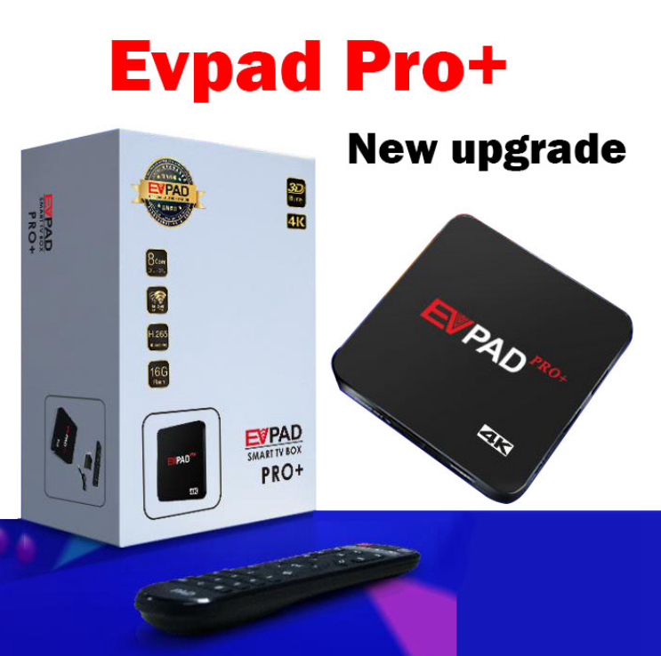 EVPAD PRO+ lifetime iptv 1700+ channels Android tv box for