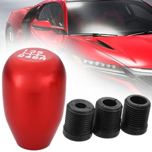 For Car Interior Parts 1pc 6 Speed Aluminum Alloy Gearstick Universal Red Shift Gear Knob Shifter Lever Head Mayitr