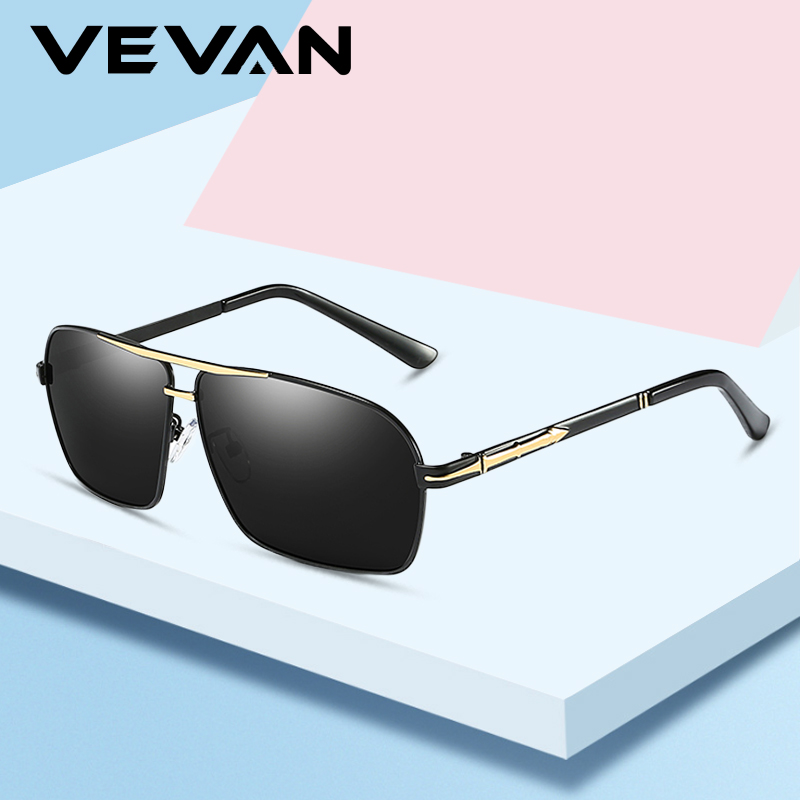 8c56b5ed10 VEVAN 2019 High Quality Sunglasses Men Polarized Brand Designer UV400 Sun  glasses Driving oculos Rectangle Goggle