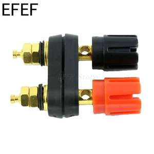 Plug-Jack Connector Terminals Banana-Plugs Binding-Post Couple Top-Selling Black Quality