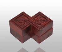 Trung quốc Claasic Fang Sheng jewel trường hợp Redwood Khắc Thủ Công Rắn gỗ Rosewood Hộp Lưu Trữ Trái Cây Món Ăn Gỗ Gụ bonbonniere Quà Tặng