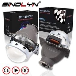 Lentes de faro Sinolyn Q5 H7 D2S HID Xenon/Halógeno/LED 3,0 proyector bi-xenon para accesorios de luces de coche con estilo
