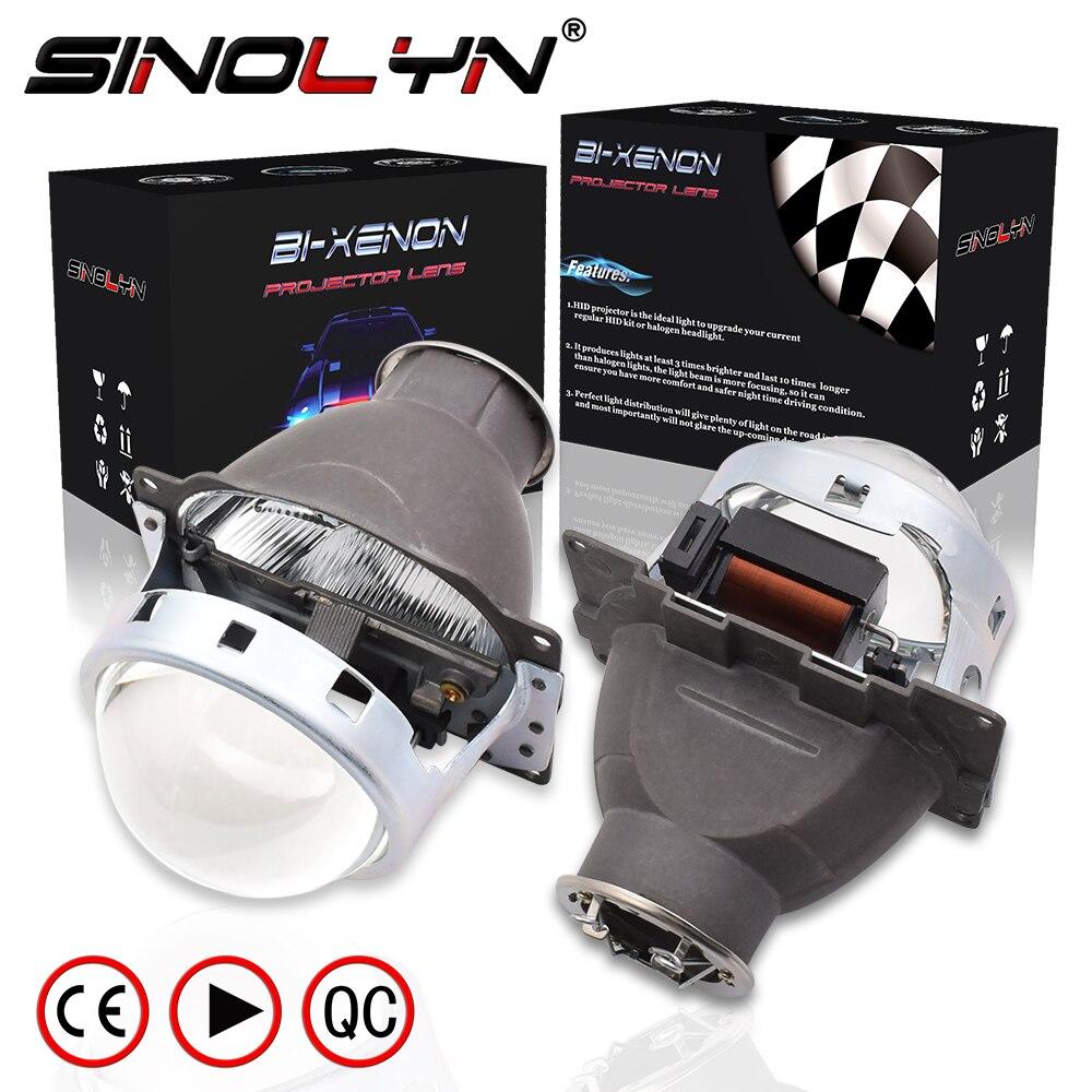 SINOLYN 3.0 ''Q5 H7 D2S HID xénon/halogène/phare LED bi-xénon lentille de projecteur LHD RHD pour la rénovation de phare de style de voiture