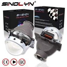 Sinolyn far lensler Q5 H7 D2S HID Xenon/halojen/LED Lens 3.0 bi xenon projektör araba işıkları aksesuarları güçlendirme şekillendirici
