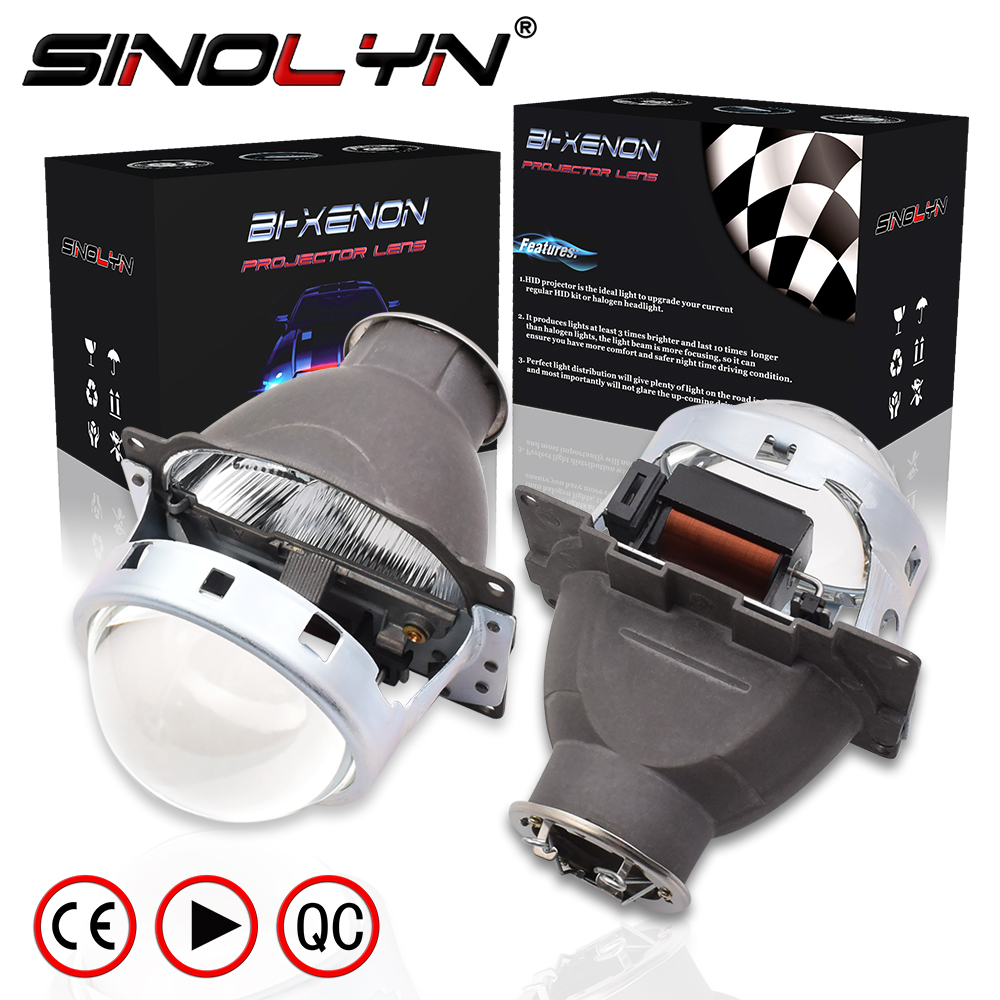 Sinolyn <font><b>Headlight</b></font> <font><b>Lenses</b></font> Q5 <font><b>H7</b></font> D2S HID Xenon/Halogen/<font><b>LED</b></font> <font><b>Lens</b></font> 3.0 Bi-xenon Projector For Car Lights Accessories Retrofit Styling image