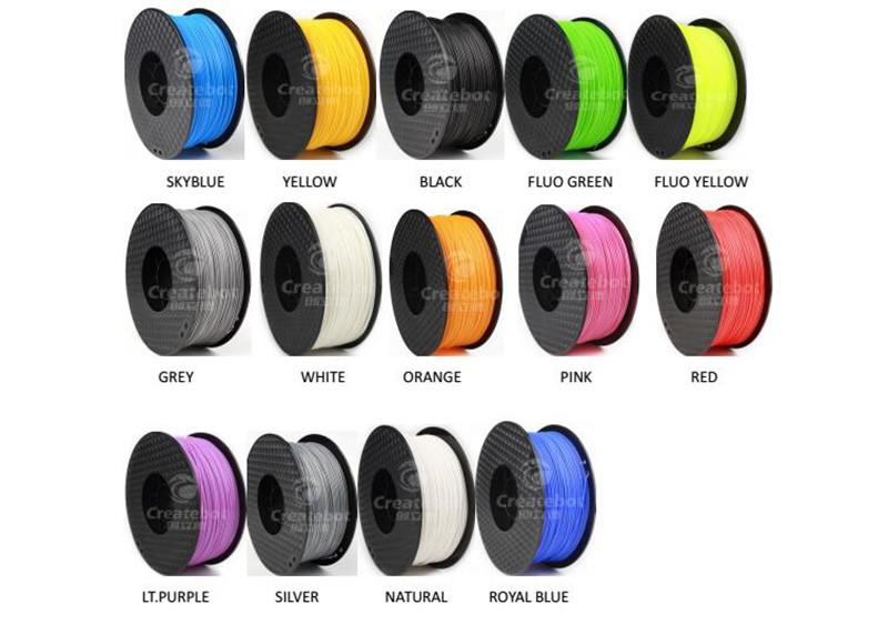 Prix pour Createbot ABS Filament Prix Spécial 1.75mm/3mm 1 KG un Rouleau ABS 3D Filament pour 3D Imprimante 2016 Nouvelle Mise À Niveau ABS Filament