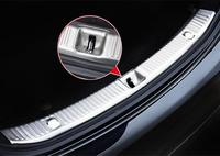 Car modification Steel Inner Rear Bumper Protector threshold plate Sill cover Trim for Mercedes Benz E Class W213 2016 2017 1pcs