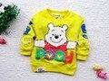 2016 новая мода детская одежда ребенка футболка ребенок толстовки детская одежда футболка с длинным рукавом