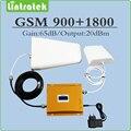 Conjunto completo teléfono móvil amplificador amplificador de señal 900 Mhz 1800 Mhz dual band GSM DCS repetidor de señal con la Antena y cable