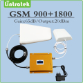 Full set mobile phone signal booster 900Mhz 1800Mhz dual band amplifier GSM DCS signal repeater with Antenna and cable