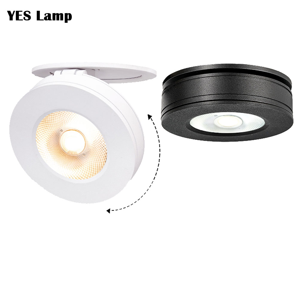 LED downlight 3W 7W 15W Faltbare dimmbare Einbau drehbare gebaut in COB Spot licht Oberfläche montieren Downlight 110V 220V