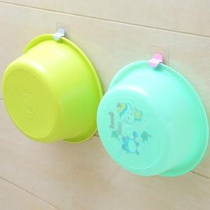 Image 2 - Пластиковый крюк для умывальника, полка для ванной комнаты, туалет, мощная присоска, настенные крючки, вешалка для хранения, подвесной умывальник, полотенца, петли подвесные