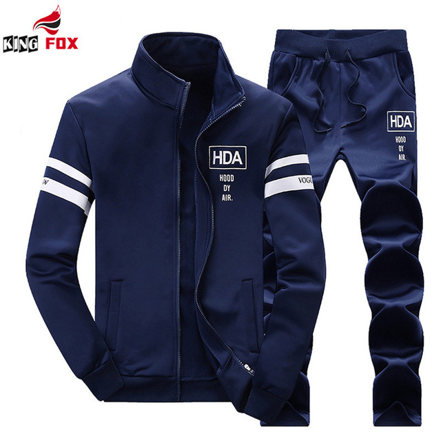 New spring Autumn Sportswear Fashion Men's Casual sportSuit Tracksuit Man Coat Jacket + Pants Male Sweatshirts brand clothing