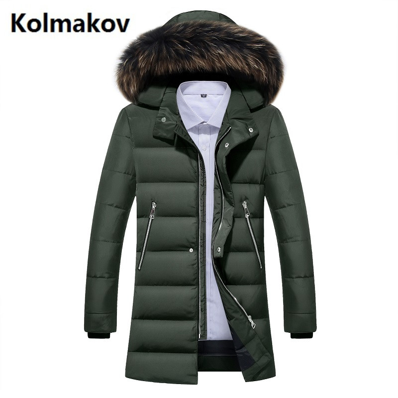 2017 winter 80% white duck down mens fashion casual classic Down jacket men Hooded winter jackets mens down coats size M-3XL