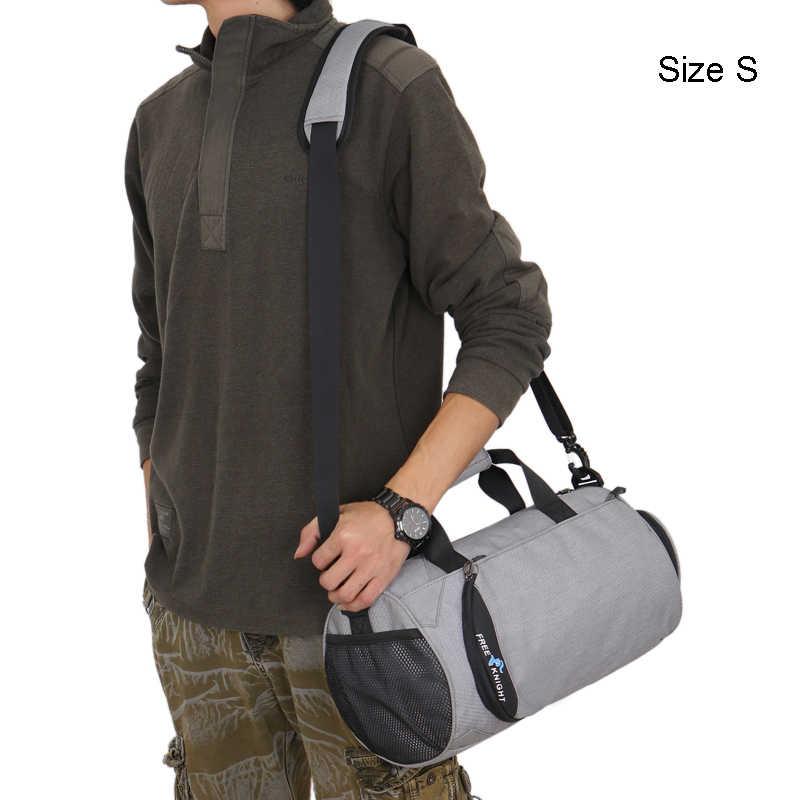 Ücretsiz şövalye 43*25*25cm spor çantaları Yoga Mat çanta erkekler kadınlar spor Fitness eğitimi çanta İşlevli çanta ile ayakkabı çantaları S M