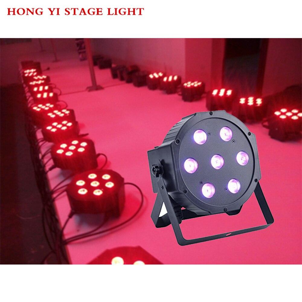 1pcs/lot China dj par slim led par 7x12W RGBW 4IN1 dmx led par light rgbw No Noise цены