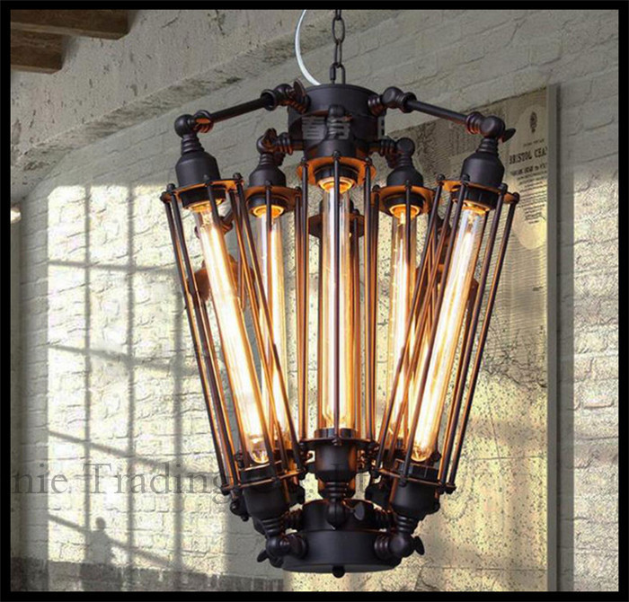 Aliexpress Steam Punk 8pcs E27 T30 Edison Bulbs Lights Chandeliers Art Deco Abajur Black Modern Large Creative Re Lamps From