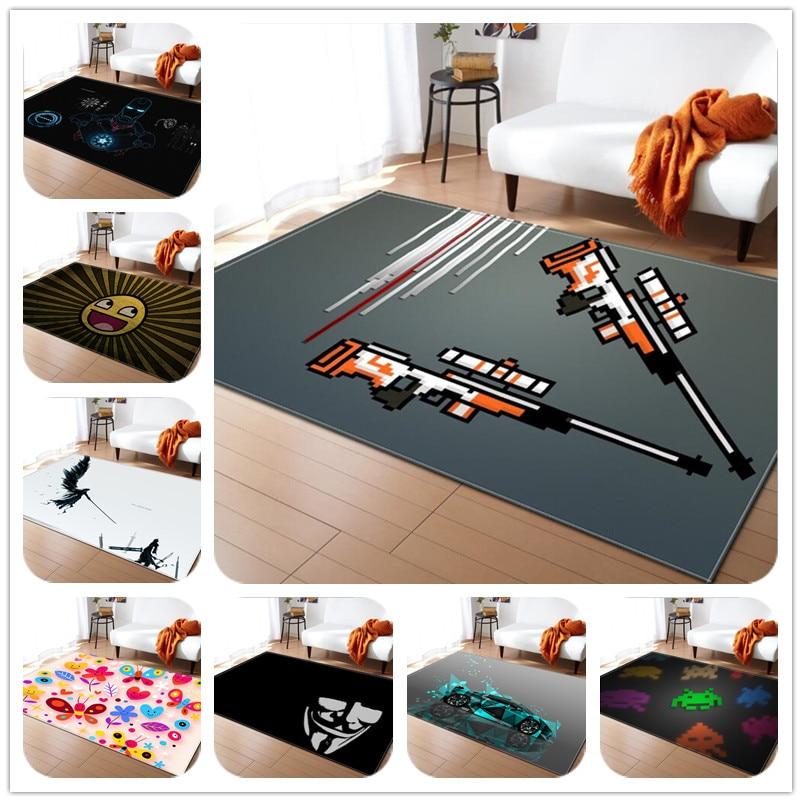Nouveau mode enfants 3D impression tapis enfant bébé salle de bain tapis anti-dérapant/tapis adaptés pour salon tapis enfants chambre tapis de jeu doux