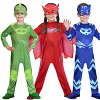 2018 New PJ Masks Cosplay Costume Birthday Party Dress Sets PJ Masks Costumes For Kids Party