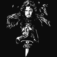 Лед и пламень Got Игра престолов ночной дозор ворона Джон Сноу унисекс футболка 100% хлопок Короткие 180gsm preshurnk Бесплатная доставка