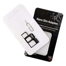 Universal 4 in 1 Set Micro SIM Card To Standard SIM Card Adapter Converter Set Sim Card For iPhone 6 7 Plus For Samsung Android