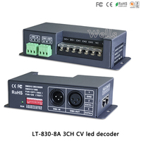 LT-830-8A DC5V-24V DMX-PWM cv محرك 3ch rgb المراقب ديمر 8a rdm dmx512 إشارة led فك ل led قطاع ضوء المصابيح