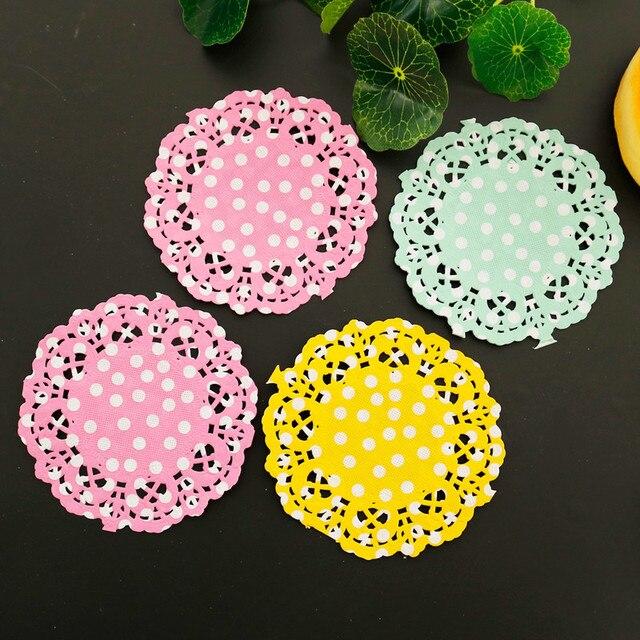 Dots Paper Lace Doilies Round Placemats 3